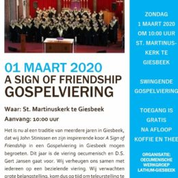 Zondag 1 maart Gospelviering Giesbeek